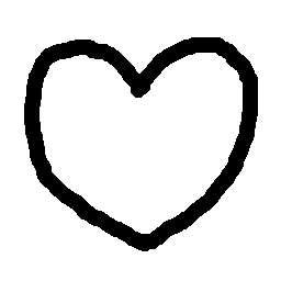 a scribbly heart outline