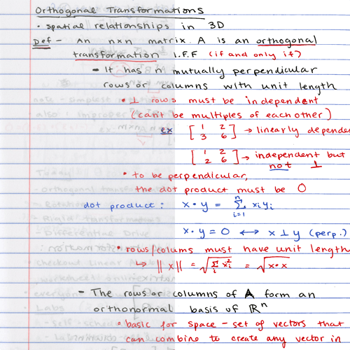 Compressing and enhancing hand-written notes